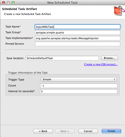 Scheduling a Task Using the Default Implementation - WSO2 Enterprise