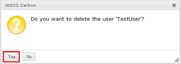 confirm user deletion