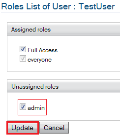 update user role