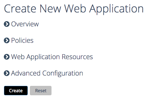 create a new Web app