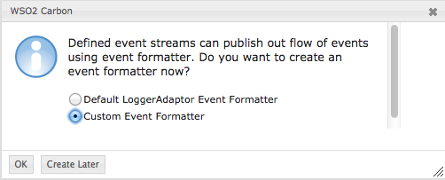 create custom event formatter
