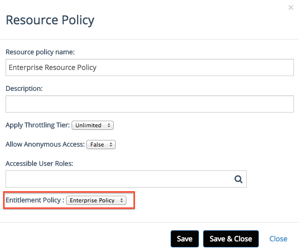 new resource policy
