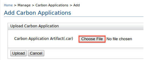 add Carbon application