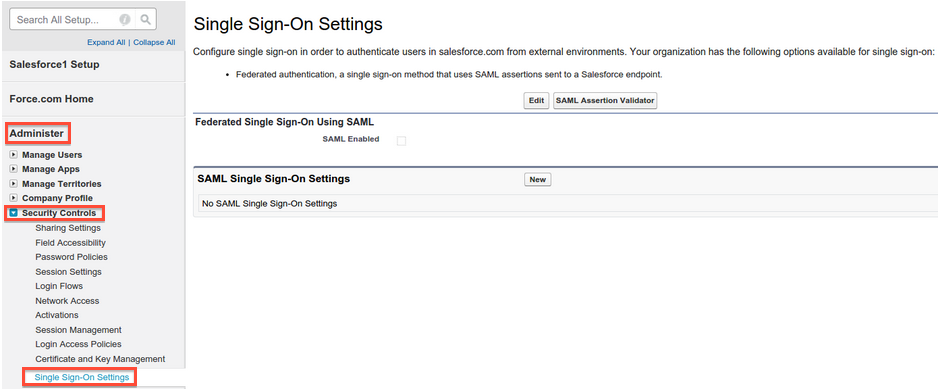 enabling single sign-on settings in your domain