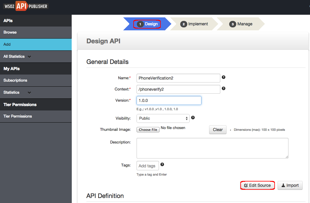 Edit An Api Using The Swagger Ui Api Manager 190 Wso2