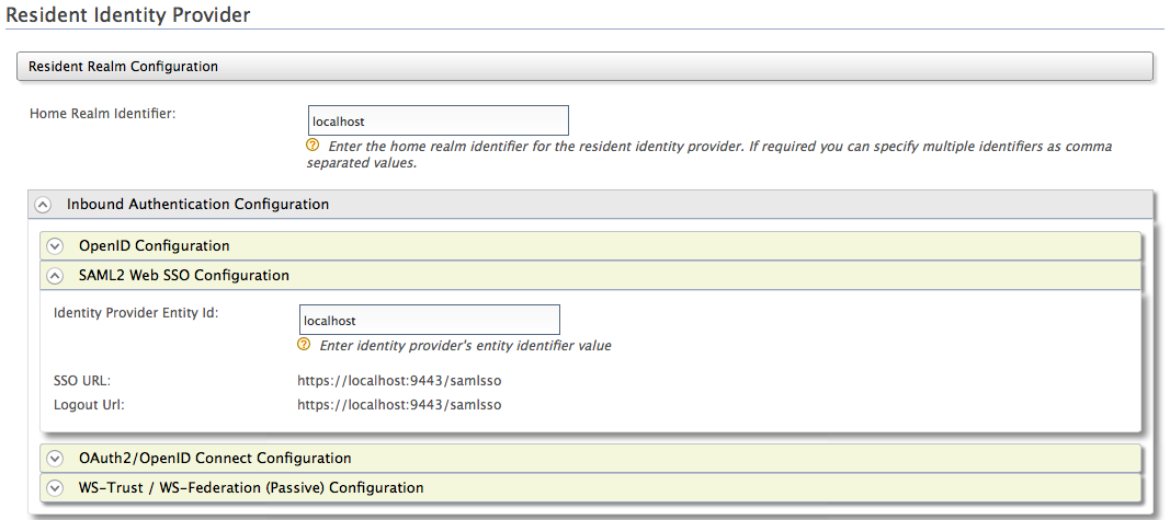 Resident Identity Provider in WSO2 IS