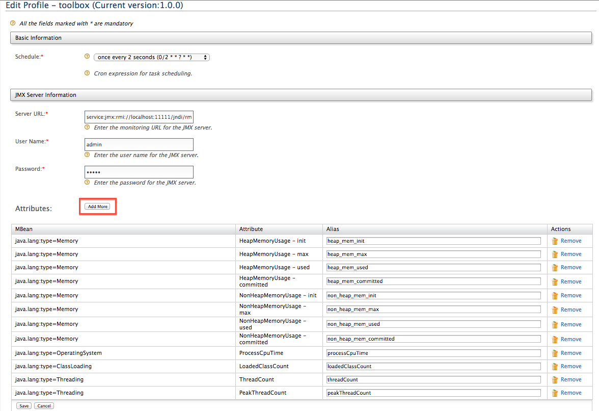 edit the pre-configured server profile for WSO2 servers.