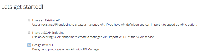 design new API