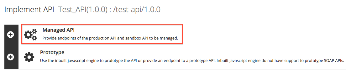 click Managed API