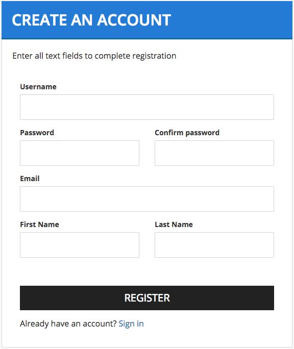 user creation form template - customizing the user registration form enterprise store