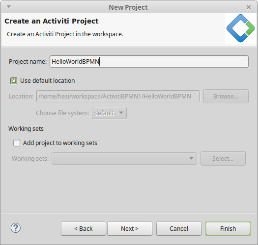 Creating a bpmn process using developer studio business process open eclipse and go to filenewother and search for the activiti project wizard to create a new activiti project ccuart Images
