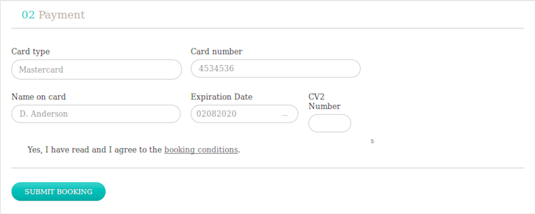 payment details auto fill