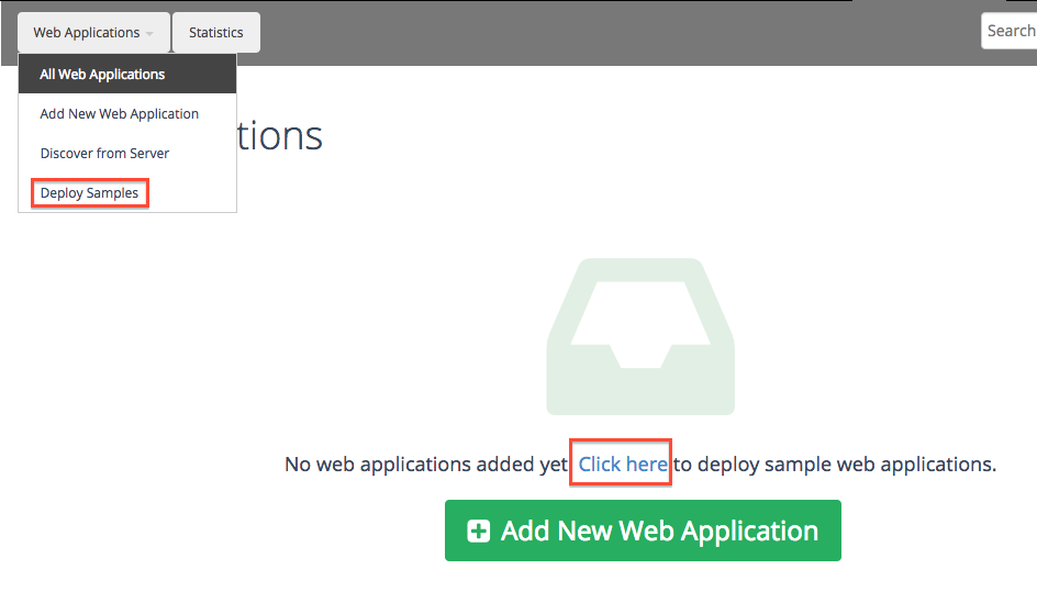 deploy sample Web apps