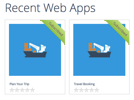 subscribed Web apps in App Store
