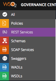 select rest services in the left menu