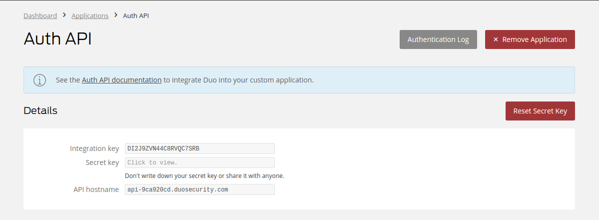 Configuring Duo Security Authenticator - Identity Server