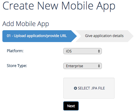 create iOS enterprise app