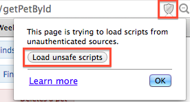 load unsafe scripts by Web browser