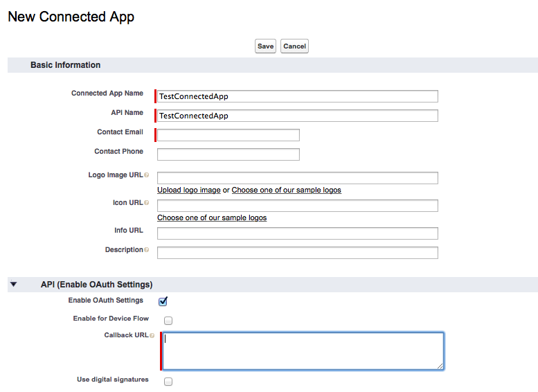 Creating a Connected Application using Salesforce - WSO2 ESB