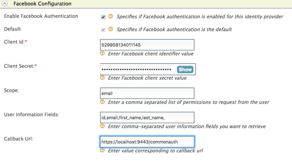 Logging in to Salesforce with Facebook - Identity Server 5 3