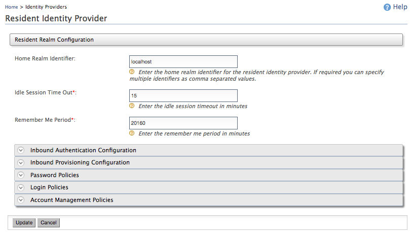 Adding and Configuring an Identity Provider - Identity