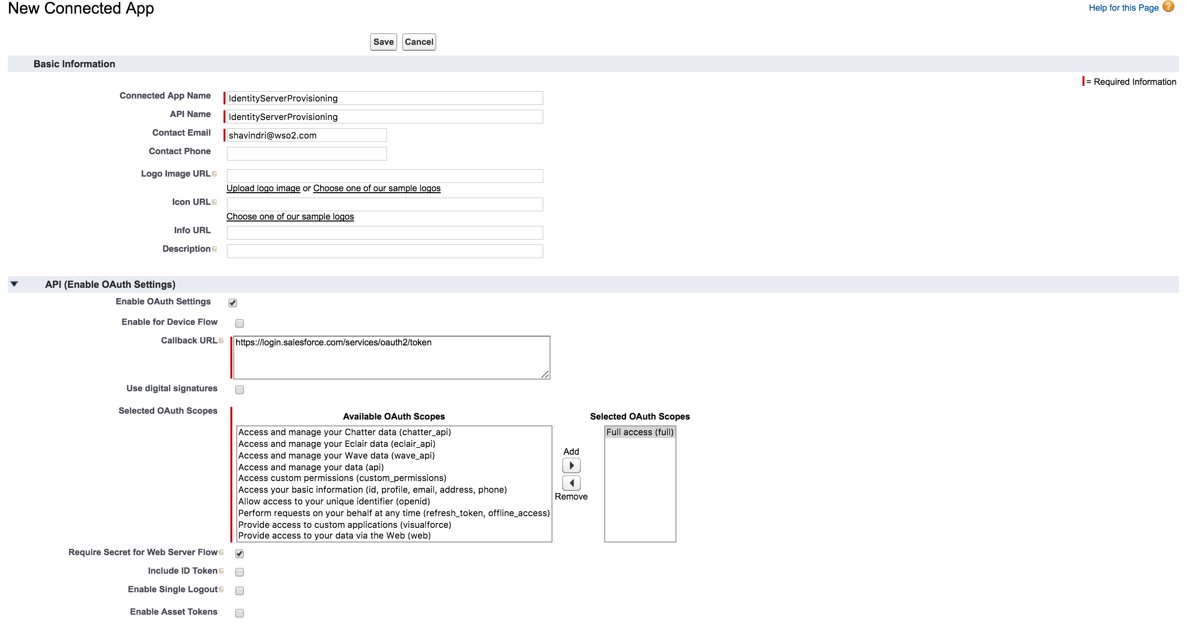 Outbound Provisioning with Salesforce - Identity Server 5 3 0 - WSO2