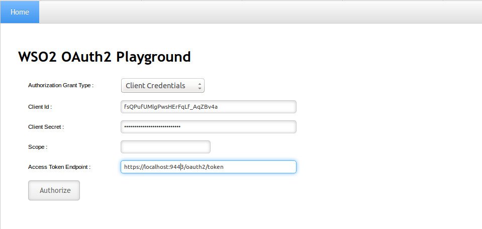 Try Client Credentials Grant - Identity Server 5 3 0 - WSO2