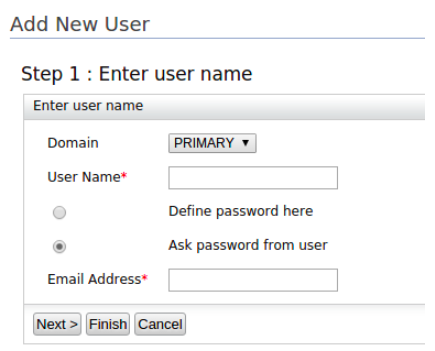 Creating Users Using the Ask Password Option - Identity