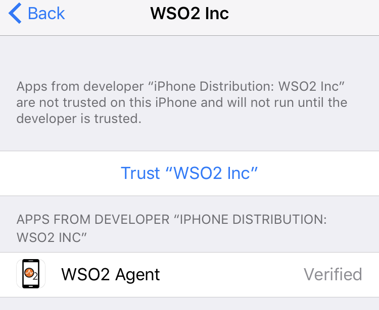 Enrolling With the iOS Agent - IoT Server 3 1 0 - WSO2