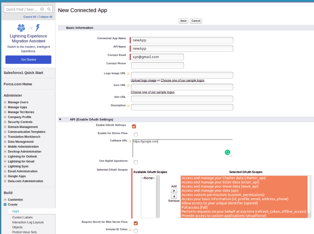 Get Credentials from Salesforce - WSO2 Integration Cloud