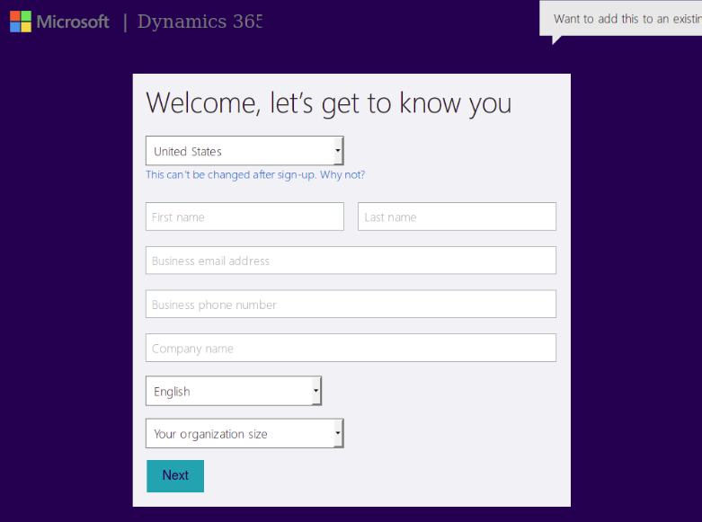 Get Credentials from Microsoft Dynamics CRM - WSO2 Integration Cloud