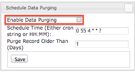 disable data purging