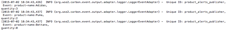 output logs of the logger publisher