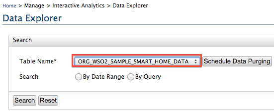 select the data source