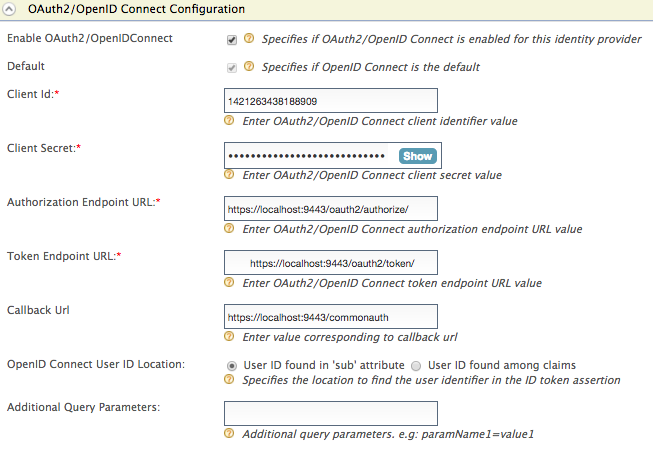 Configuring OAuth2-OpenID Connect - WSO2 Identity Server 5 6