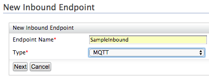 enter the inbound endpoint type