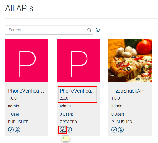 View New API Version